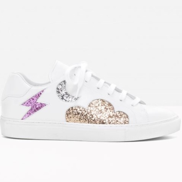 c80d4c1a22c Other Stories Shoes -   Other Stories Leather Glitter Sneakers 38